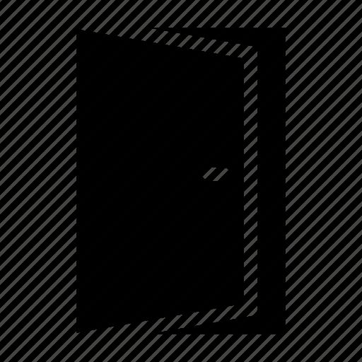 building, door, entrance, exit, house, open icon