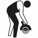 builder, construction worker, drill, handyman, labor, people, worker icon
