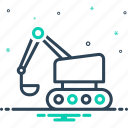 backhoe, build, bulldozer, crawler, equipment, excavator, machinery