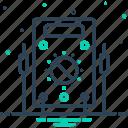 ammeter, amperage, analog, appliance, control, resistance, voltmeter icon