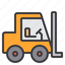 construction, fix, forklift, home, tool icon