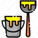brush, construction, design, equipment, paint, tool, tools