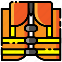 construction, lifeguard, lifejacket, lifesaver, tool, vest icon