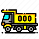 car, construction, delivery, transport, transportation, truck, vehicle icon