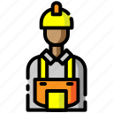architecture, avatar, construction, employee, engineer, male, worker