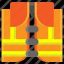 construction, lifeguard, lifejacket, lifesaver, secure, security, vest icon