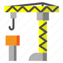 architecture, building, construction, crane, estate, real estate, repair icon