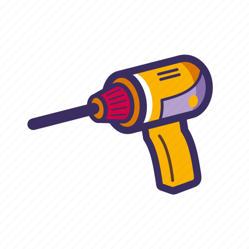 drill, drill machine, electric drill, hand tool icon