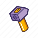 claw, diy, hammer, house, mallet, repair icon