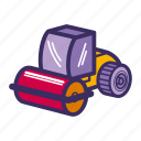 bulldozer, construction equipment, equipment, heavy, heavy equipment, machine icon