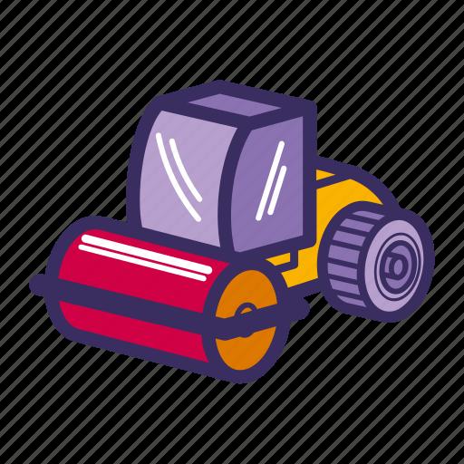 bulldozer, construction equipment, equipment, heavy, heavy equipment, machine icon