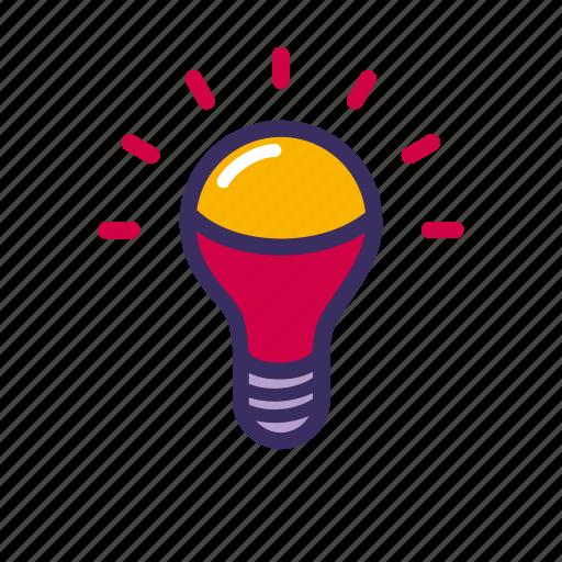 bulb, creative, electricity, idea, lamp, lightlamp icon