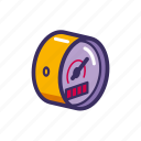 meter, pressure, science, sensor icon