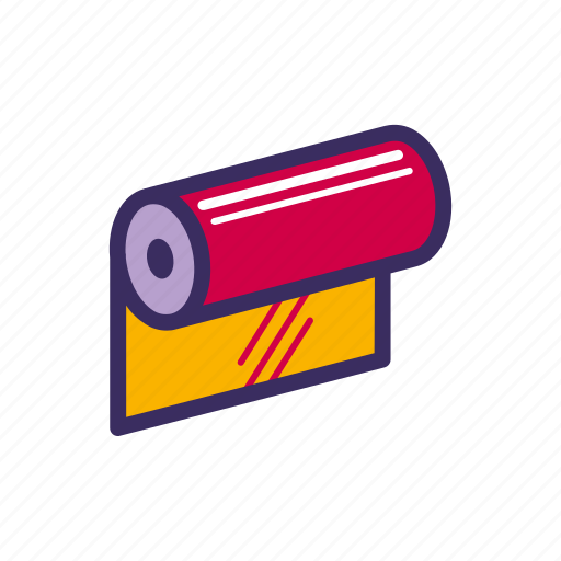 Cloth, fabric, roll, sewing, wallpaper icon - Download on Iconfinder