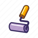 paint brush, paint roller, roller, roller brush icon