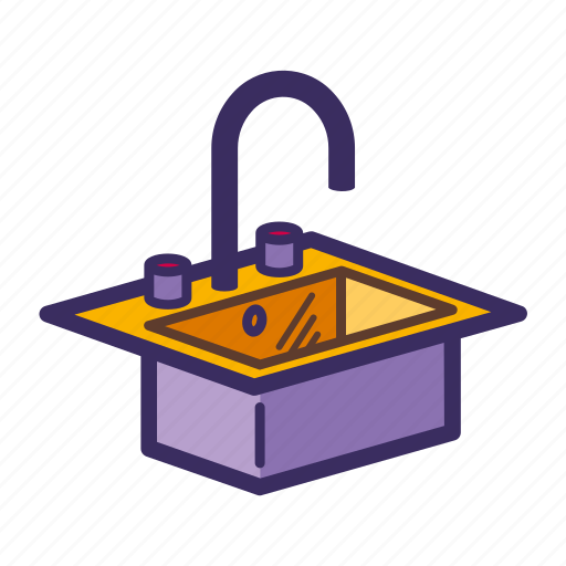 appliances, faucet, sink, tap icon