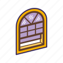 carpentry, interior, window, window installation icon
