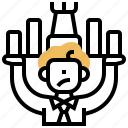 competitive, market, positioning, product, strategy icon
