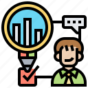 control, observation, product, research, qualitative icon