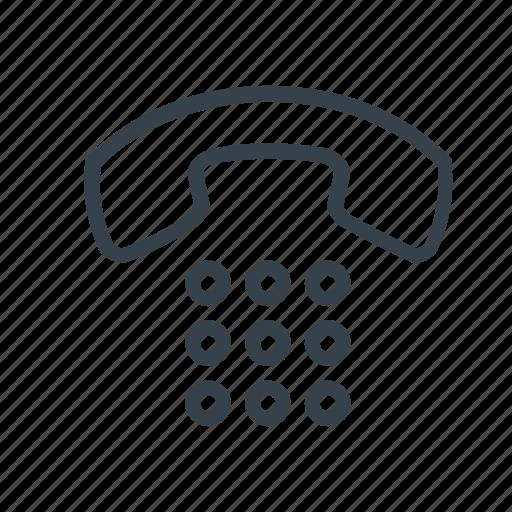 analog, analog phone, contact, phone icon