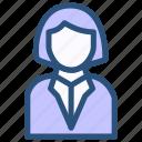 contact, customer, female, service icon