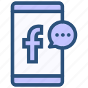 contact, facebook, messenger icon