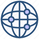 contact, global, globe, network icon