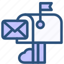 contact, mail, post, postbox icon