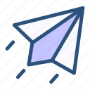 contact, mailing, paperplane, send icon