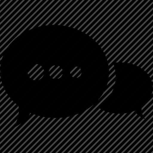 bubble, chat, comment, communication, message, talk, web icon