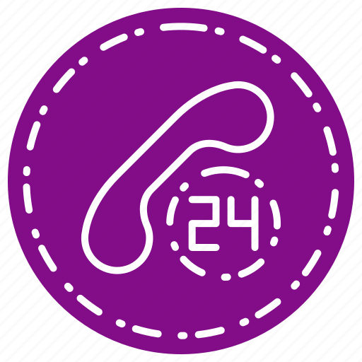 call, communication, contract, delivery, hour icon