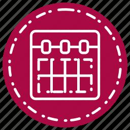 calendar, call, communication, contract, math icon