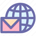 email, envelope, globe, mail, mailing, message, world