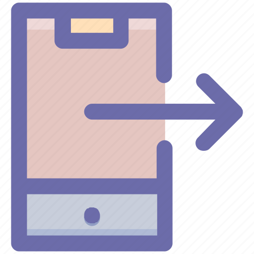 arrow, mobile phone, mobile right arrow, right, right arrow, smartphone icon