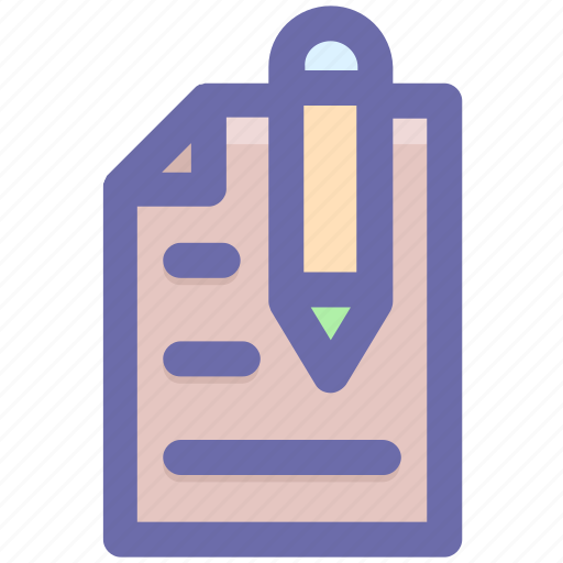 List, page, paper, pen, pencil, sheet, writing icon - Download on Iconfinder