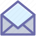 email, envelope, letter, message, open, open envelope, receive