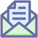 email, envelope, file, letter, open, open envelope, paper icon