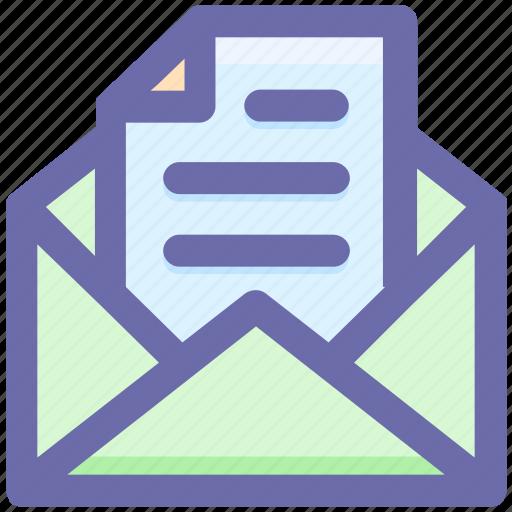 email, envelope, file, letter, open, open envelope, paper icon