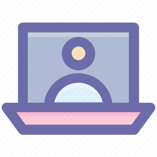 Internet, laptop, screen, talk, user, video call icon - Download on Iconfinder