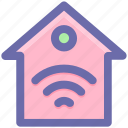 home, hotspot, internet house, wifi service, wifi signal, wireless icon
