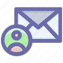 email, envelope, letter, message, send, user