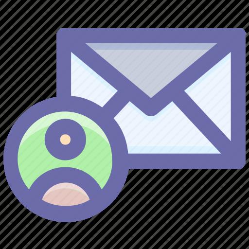 email, envelope, letter, message, send, user icon