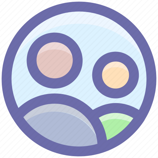 circle, friends, members, men, persons, users, worker icon
