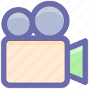 camera, film, media, movie, movie camera, shooting, video camera icon