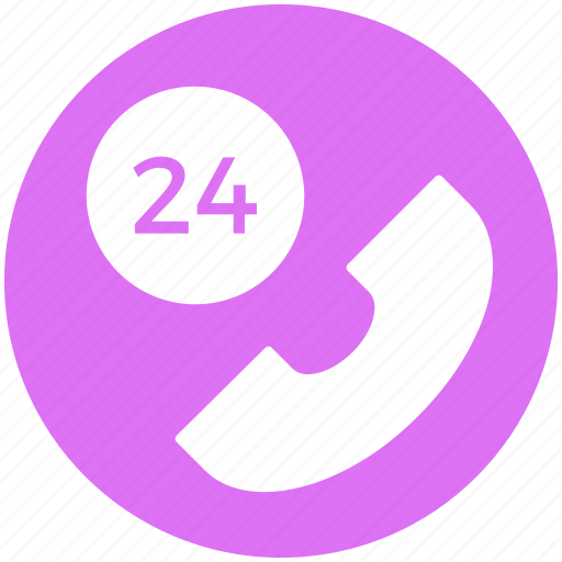 call 24 hours, call services, customer, phone 24, service, support, telephone icon