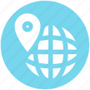 direction, globe, map, map pin, world, world location, world map icon
