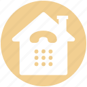 building, call service, connection, home, house, receiver, telephone