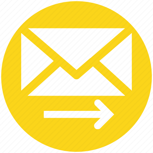 arrow, email, envelope, mail, right, send icon