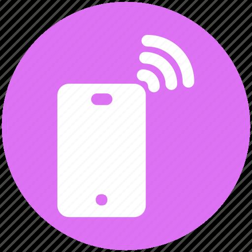 hotspot, mobile, phone, signal, technology, wifi signal icon