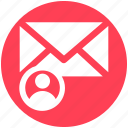 email, envelope, letter, message, send, user icon